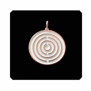 Amulett Roségold / Weiß klein