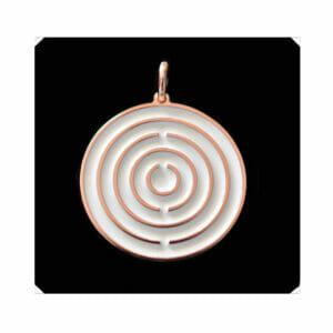 Amulett Roségold / Weiß mittel