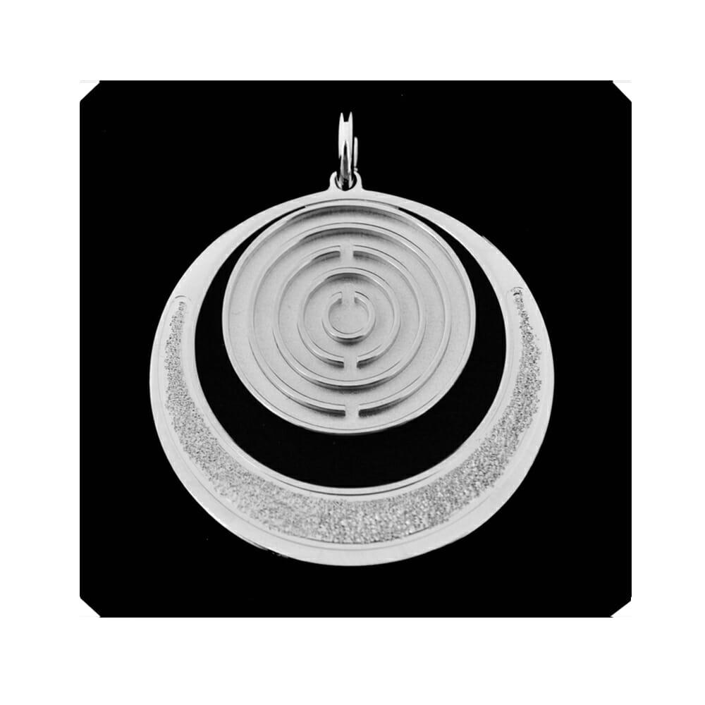 Amulett Silber groß offen