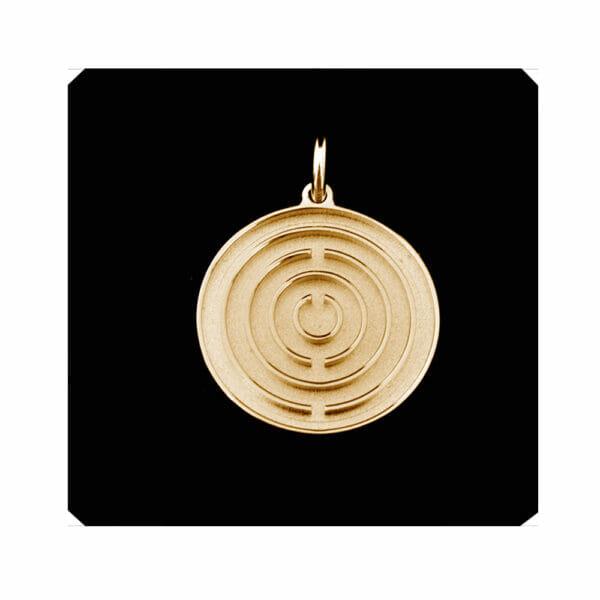 Zentralsonne Amulett 750er Gold